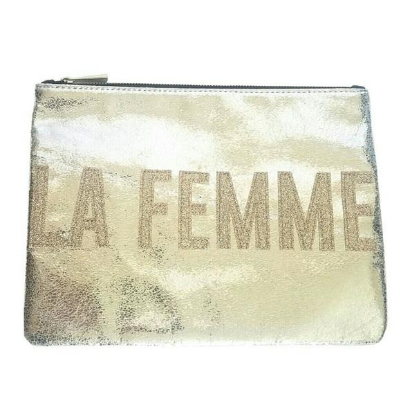 Express Handbags - Express La Femme Metallic Clutch
